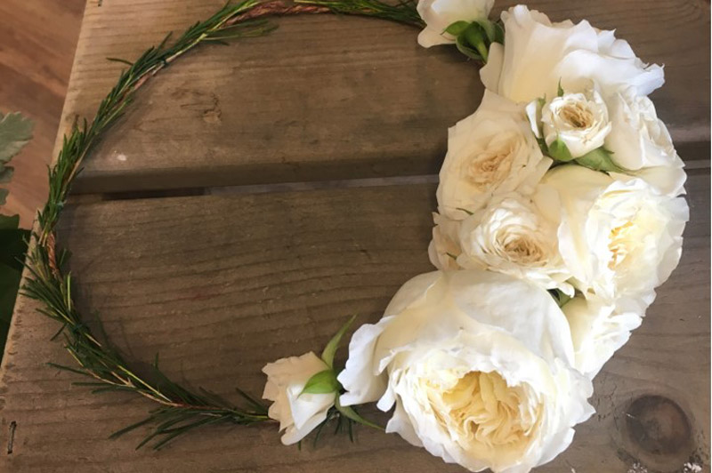 White Rose head crown